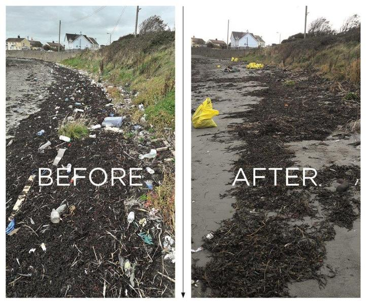 Ardglass before and after cleaning